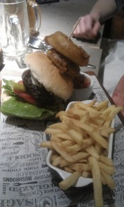 Graze Inn's steak burger- a force to be reckoned with.