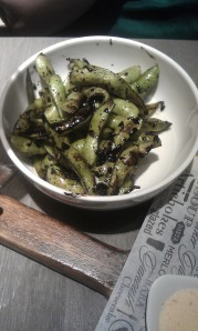 Edamame- a healthy, but salty, choice.