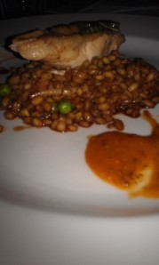 Chicken with pearl barley and [no] butternut squash