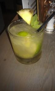 Pineapple caipirinha- mmmm.