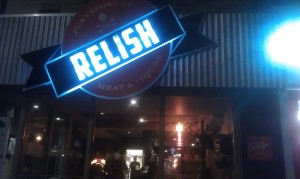 new Relish sign