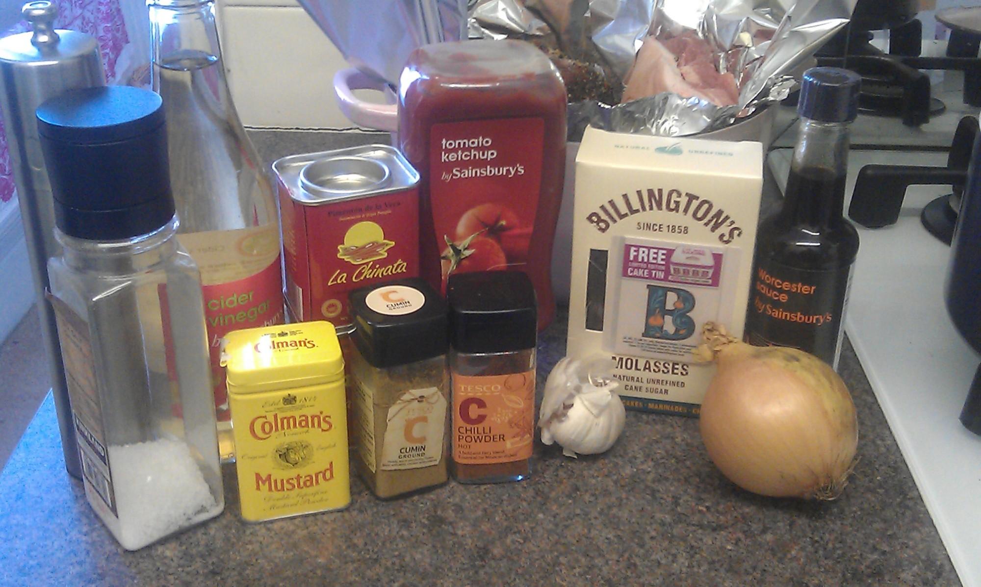 Pulled pork BBQ sauce ingredients