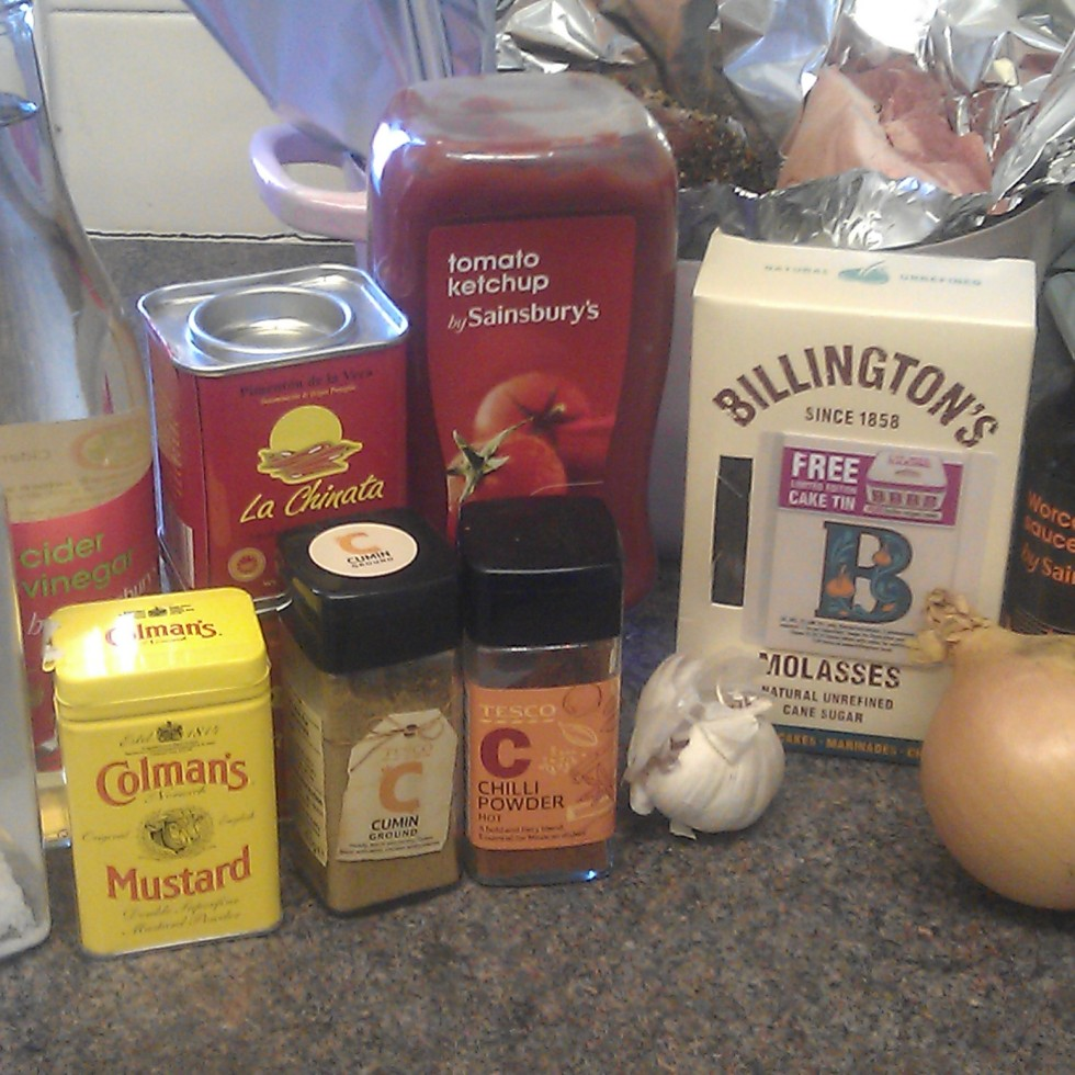 Pulled pork BBQ sauce ingredients