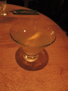 Pear essence cosmopolitan at Milestone