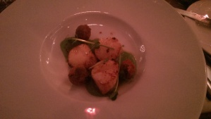 Scallops at Rafters Restaurant Sheffield