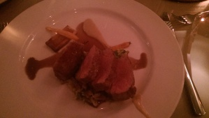 Moss Valley Derbyshire lamb loin at Rafters Restaurant Sheffield
