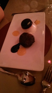 Christmas pudding at Rafters Restaurant Sheffield