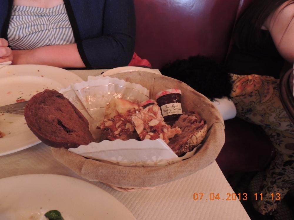 Bread basket at Balthazar, New York City.