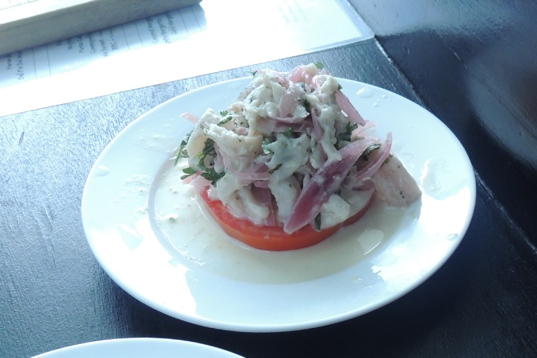 Ceviche in Costa Rica