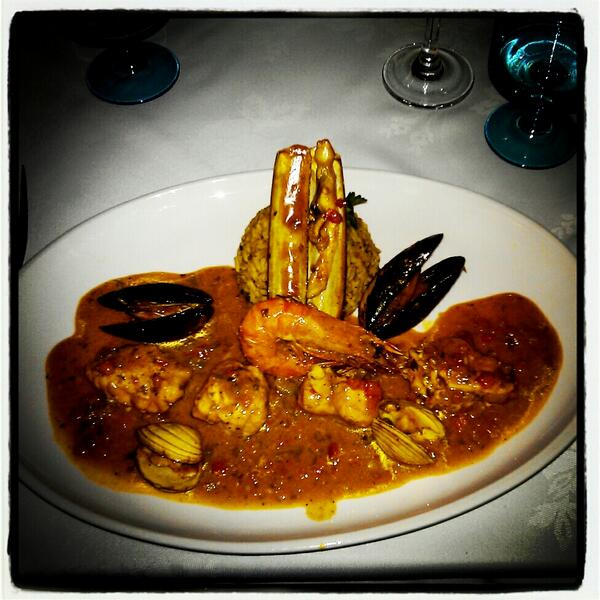 Monkfish tail at The Mediterranean, Sharrow Vale