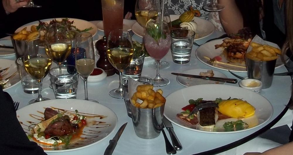 Oxo Tower London brasserie hen do dinner