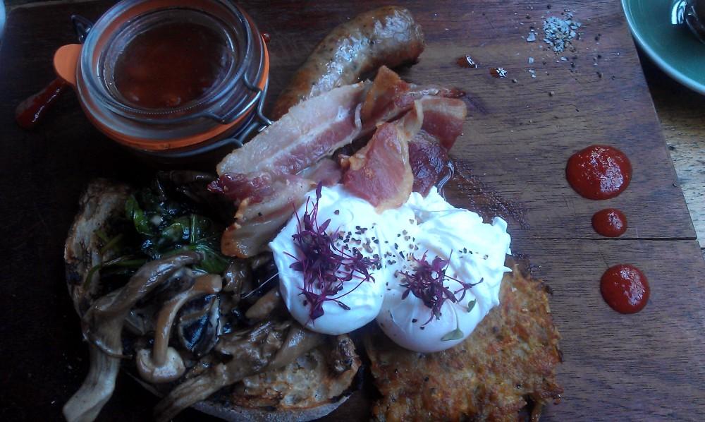 The Big Kiwi breakfast at Tamper Sellers Wheel