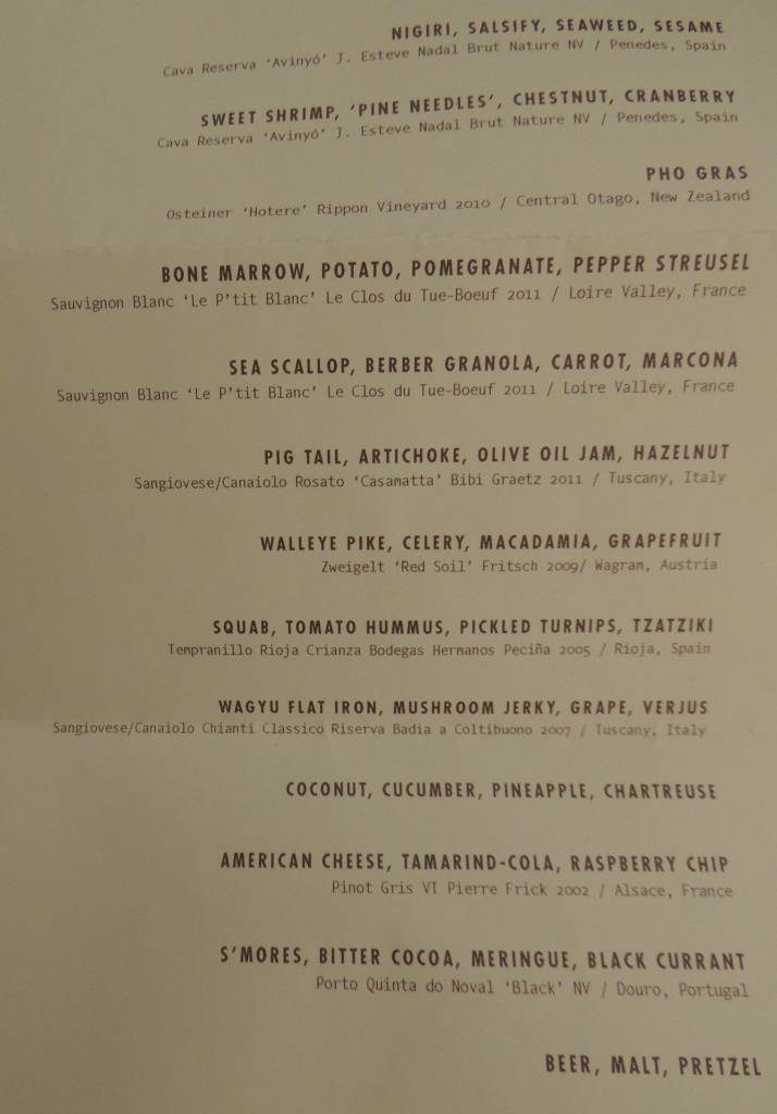 wd~50 tasting menu New York City
