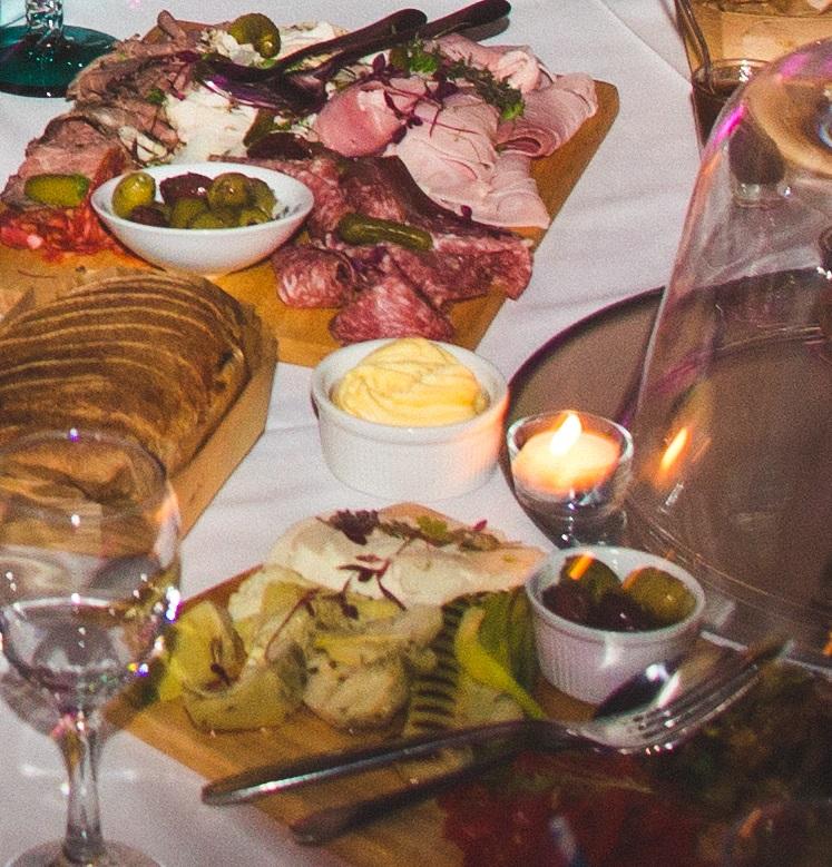 PJ Taste Sheffield wedding catering sharing boards