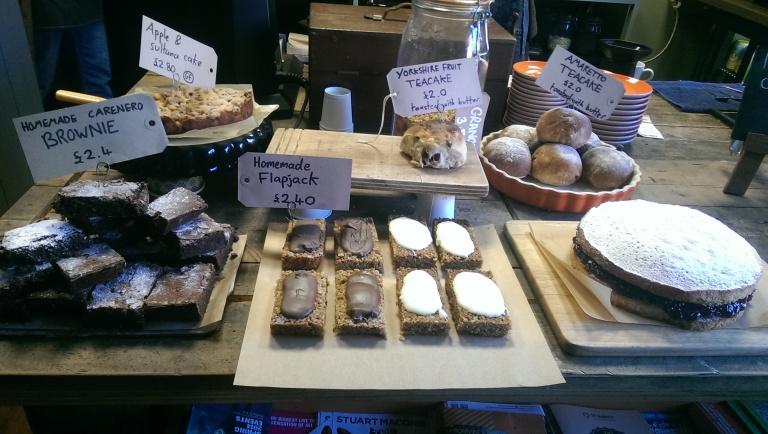 Amazing-looking cakes at Upshot Espresso.