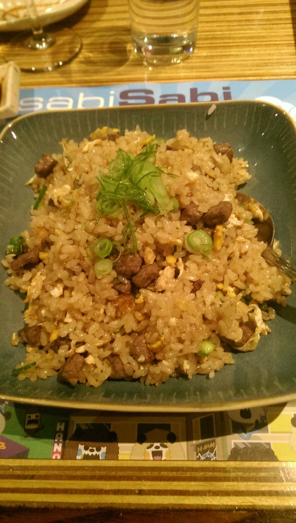 Beef fried rice.