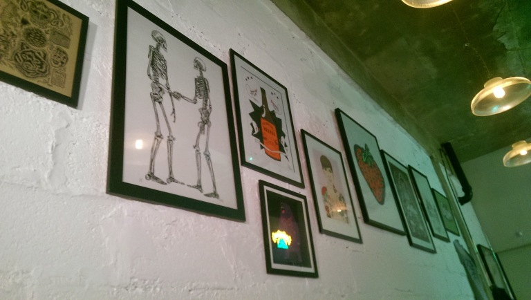 Artwork at Lucky Fox