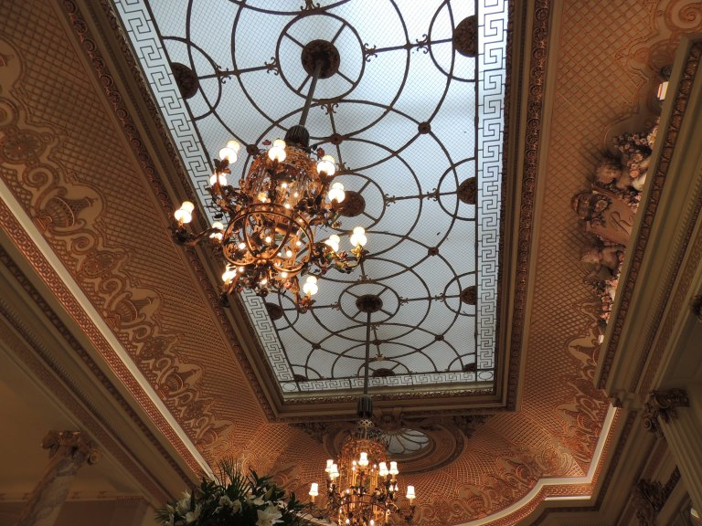 Ceiling at The Palm Court, The Ritz