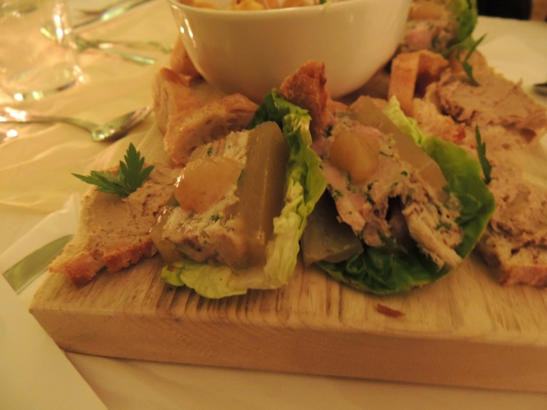 The delicious pigs head, ham and parsley terrine.
