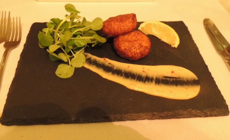Oak-smoked salmon fishcake