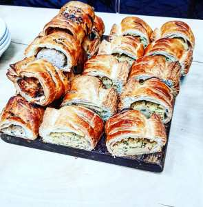 Sausage rolls at the Depot Bakery, Sheffield