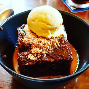 Sticky toffee pudding at The Castle Inn, Bradway, Sheffield