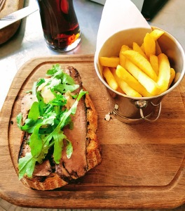 open sandwich at the tickled trout, Barlow, Derbyshire